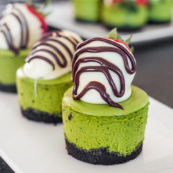 Matcha Mini Cheesecakes