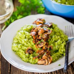 Arugula and Basil Pesto Risotto