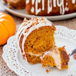Pumpkin Bundt Cake with Cream Chees