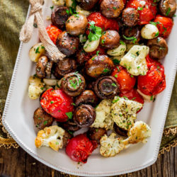Italian Roasted Mushrooms and Veggi