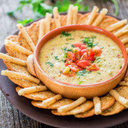 Crockpot Bacon Queso Blanco Dip
