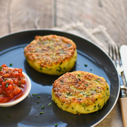 eek, potato and chive cakes