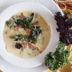 Sausage nad kale soup