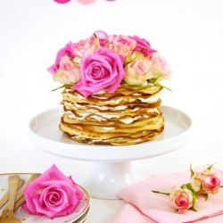 Crepe Cake with Rosewater & Marmela
