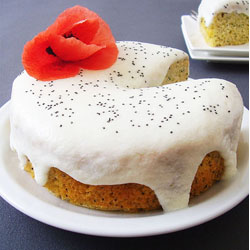 Lemon Yogurt Poppy Seed Cake
